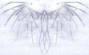 Rough: Scar Wings Tattoo by VivaciousLimner