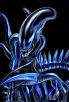 Allien in blue by UrielKaido