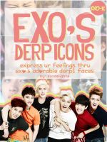 EXO's Derp Icons [EXO-K] by ChocolateMonstah00