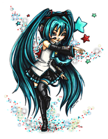 Miku from Vocaloid - Colored by JadeDragonne