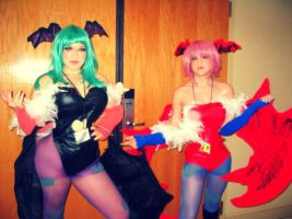 Morrigan and Lilith by OddOrphan