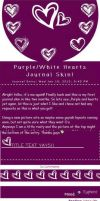 Purple White Hearts Journal Skin by Eternal-Skye