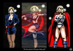Powergirl's quick change. by adamantis