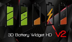 3D Battery HD for xwidget by jimking