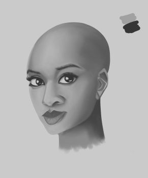 Form Study Female Face by UpDownReverse