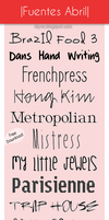 April Fonts (Pack fuentes Abril) by DiyVa-Jessica