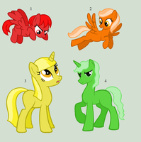 Colour Pony Adopts 1 by Rain-Approves