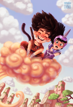 Goku and Chichi : An Awesome ride :3 by BrennoSousa
