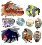 ASSORTED ADOPTS!  (Rowdy Rough and Clinger Open) by kub-e