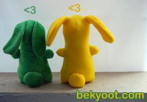 Jelly Bunny Plushies by lafhaha