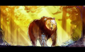 Wilde Life - Oscar and the White Faced Bear by Lepas