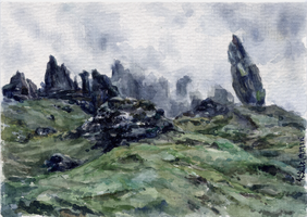 -Postcrossing: The Storr 1- by RiEile