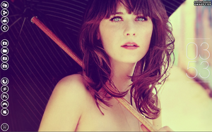 My Desktop Zooey Deschanel -Vintage- v2 by vdk84