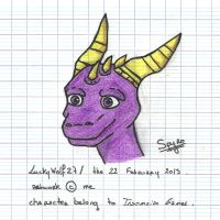Spyro First Try ! (Coloured) by LuckyWolf27