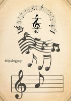 musical notes brushes by spidergypsy