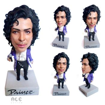 Prince in Purple rain sculpture by yuisama