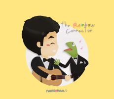 chibi darren: with kermit by nantokaa