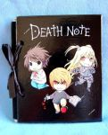 Handpainted Death Note photo album/scrap book by SimonaZ