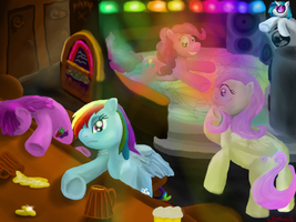 Ponies at disco by anttosik