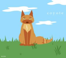 Coyote doing what Coyotes Do. by snailbird