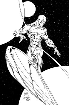 Silver Surfer Ink #1 by SWAVE18