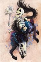 Death XIII Tarot Card by DablurArt