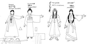 Women's East Asian Clothes Tutorial by KinnoHitsuji