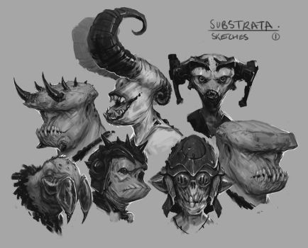 Substrata sketches 1 by fightpunch