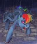 Vampire Rainbow Dash by bunnish