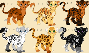 Cub Creator Adopts: Natural Colors Edition FREE! by Leopardenschweif