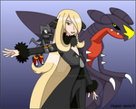 Cynthia, Hypon and Garchomp, nothing else by LucarioShirona