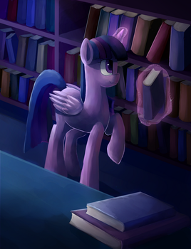Twilight and a lotta books by Camyllea