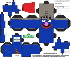Muppets 22: Super Grover Cubee by TheFlyingDachshund