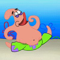 Dumb Running Patrick by LargeStupidity