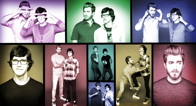 Rhett and Link collage/wallpaper by JokerSyndrom