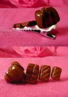 Chocolate Hair Clip by CazGirl