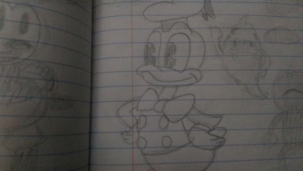Donald Duck by jusheeandtootee