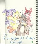 The Five Nights At Freddy's Gang by BDOG375