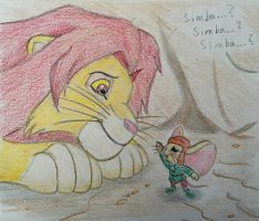 The Lion and the Mouse by PinkDuskStone