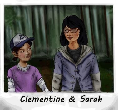 Clementine and Sarah by Axels-inferno