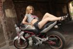 Biker girl and her steel horse by Foto-Hunter