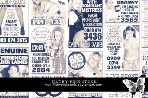 Stock - Sex Line Ads by FilthyPinkStock