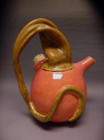 Organic Tea Pot side 1 by CreativelyStrange