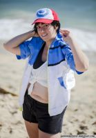 Rule 63 Ash Goes to the Beach by moonymonster
