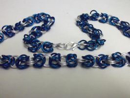 Blue Silver Byzantine Necklace by NevinSlate