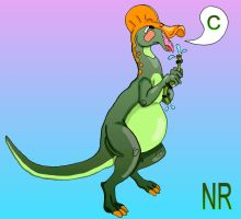 C is for Corythosaurus by MilkToothCuts
