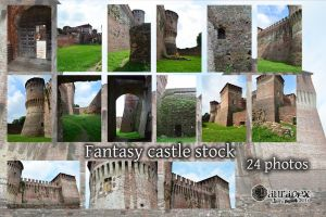 Fantasy castle stock by LauraPex