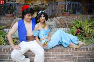 Week 3- Aladdin and Jasmine by MidoriChan15