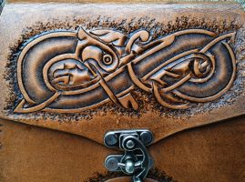 Celtic Knotwork - Tooling Detail by SonsOfPlunderLeather