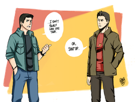 SPN - Dean and Anime Dean 8D by Renny08
